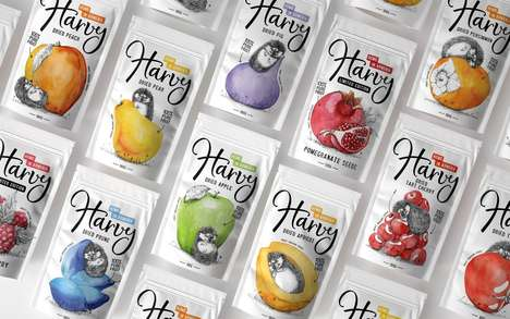 Playful Fruit Snack Packaging