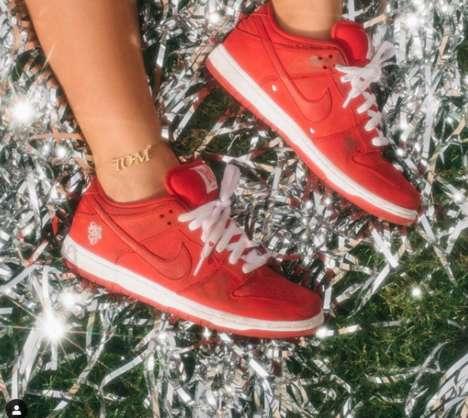 Crisp Red Low-Top Sneakers