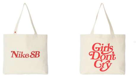 Boldly Lettered Tote Bags