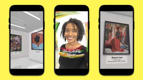 AR Art Gallery Lenses - Snapchat's Virtual Art Gallery Celebrates Black History Month
