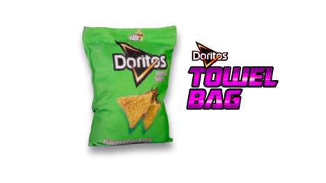 "Finger-Cleaning Snack Bags - The Doritos Towel Bag is Made of Towel Fabric to Clean ""Dorito Fingers"""