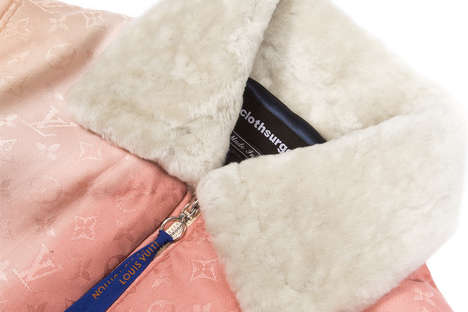 Scarf-Constructed Bomber Jackets - clothsurgeon Re-Creates a Baby Pink Jacket for Octavian