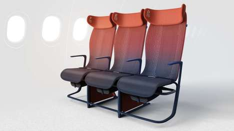 Conductive Airplane Seats - Airbus' Airplane Seat Design Concept is Knitted with a Smart Textile