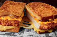 QSR Comfort Food Sandwiches - The KFC Colonel Grilled Cheese is Only Available in France