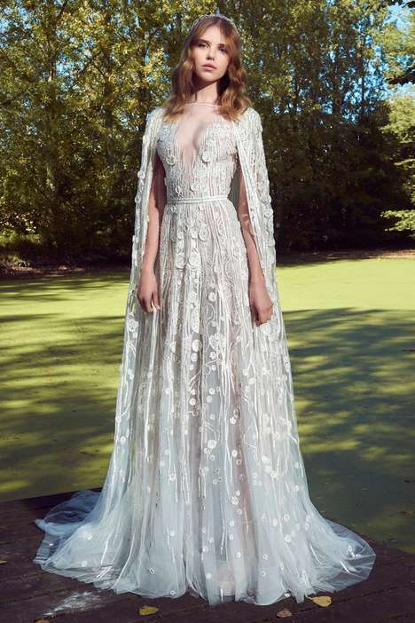 Alternative Floral Bridal Gowns