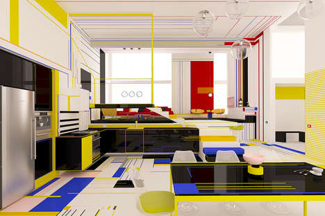 Primary-Colored Home Interiors