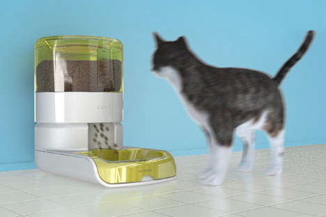 App-Connected Pet Feeders - The Yemlebeni Automatic Pet Feeder Ensures Optimum Nutrition