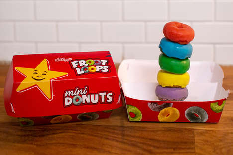 Tasty Multi-Colored Mini Donuts