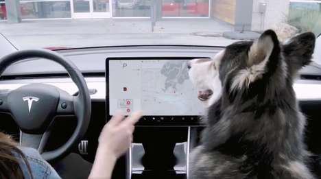 Dog-Cooling Car Systems - Tesla's 'Dog Mode' Allows Drivers to Safely Leave Pets in the Car