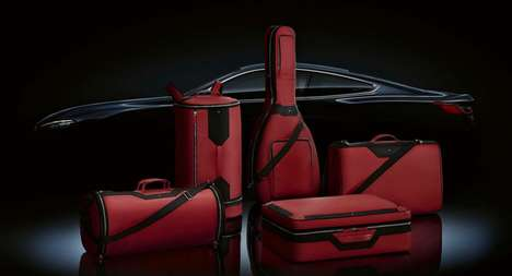 Car-Compatible Limited Edition Luggage - Montblanc's Pieces Seamlessly Fit in the BMW 8 Series Coupé