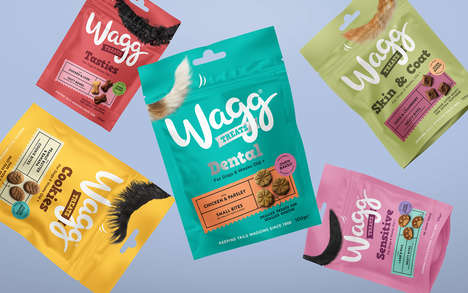 Playful Dog Food Packaging - Wagg's New Brand Identity is Cheerfully Divergent from Its Competitors