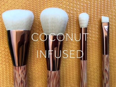 Coconut-Infused Makeup Brushes