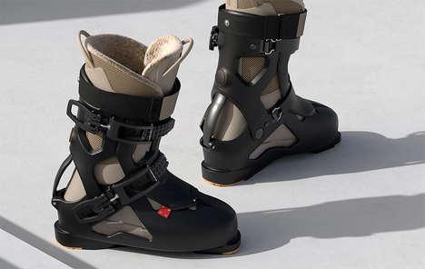 Futuristic Winter Sport Boots