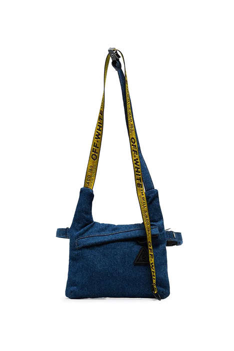 Denim-Constructed Messenger Bags