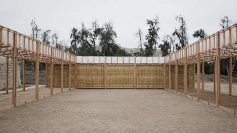 Shade-Providing Desert Pavilions - Students from Lima & Zurich Build a Woven Structure in Peru