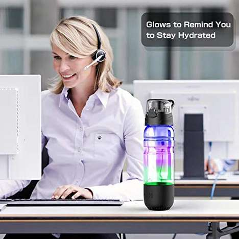 Hydration-Reminding Water Bottles