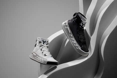Minimal High-Top Performance Sneakers