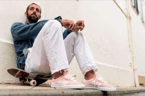 Beach-Inspired Soft-Toned Skateboarding Sneakers