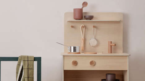Gender Neutral Play Kitchens - Ferm Living Designs a Slick, Minimal & Stylish Play Kitchen for Kids