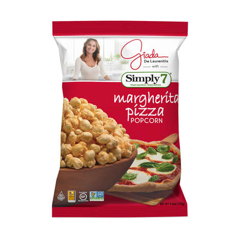 Pizza-Flavored Popcorn Snacks