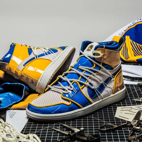 Basketball-Inspired Reconstructed Sneakers - The Shoe Surgeon's New Creation is Targeted at NBA Fans