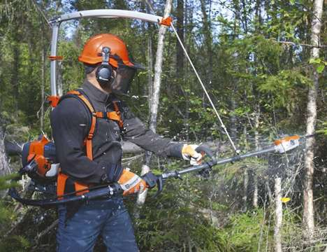 Backpack-Mounted Forestry Saws