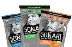 Grain-Free Tortilla Chips - The Packaging for Soñar Foods' Snacks Feature the Faces of Latino Youth