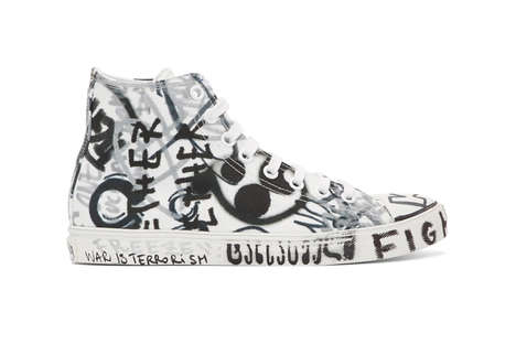 Monochromatic Scribbled Sneakers