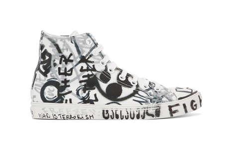 Monochromatic Scribbled Sneakers