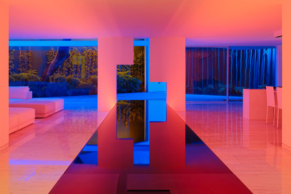 Contemporary Neon Houses - Miguel ÁNgel Aragones' Design is a Completely Immersive Experience