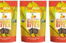 Tropical Dehydrated Fruit Snacks - The Barnana Organic Tropical Chewy Banana Bites are Paleo