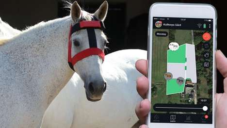Bovine-Tracking Wearables - This GPS Device Enables Easy Horse Tracking Using Mobile App Technology