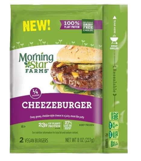 Protein-Rich Vegan Cheeseburgers