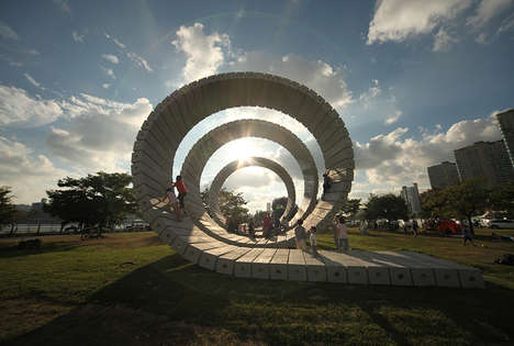 Fiberglass Plastic Spiral Installations