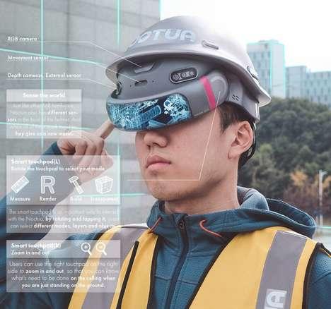Mixed Reality Construction Helmets