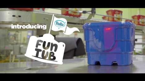 Playful Ice Cream Tubs