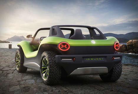 Futuristic All-Electric Dune Buggies