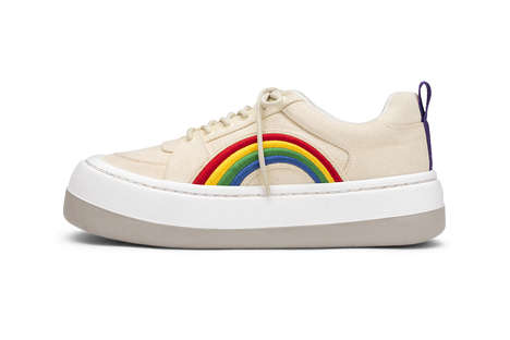 Rainbow-Accented Chunky Sneakers