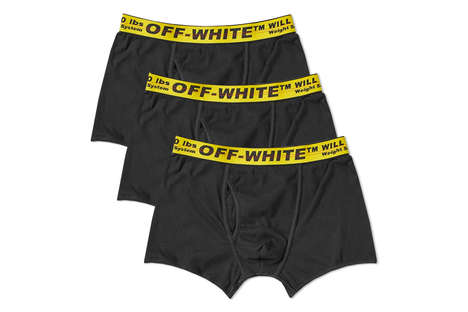 Streetwear Branded-Band Boxers - Off-White's New Boxers Boast an Industrial Belt Branding Detail