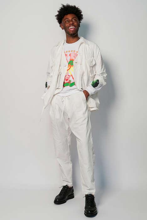 Monochromatic Patterned Menswear