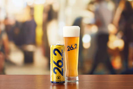 Crisp Athletic Beers - Marathon Brewing's '26.2 Brew' is a Better-for-You Reward for Athletes