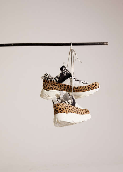 Chic Animal Print Footwear