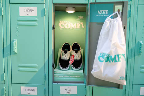 High School-Themed Footwear Events - This Vans Pop-Up Calls Attention to the Brand's ComfyCush Era