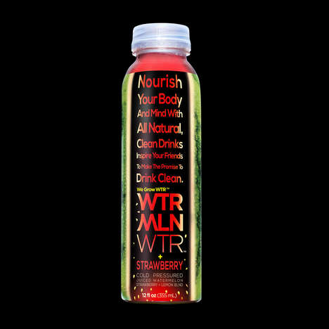 Charitable Watermelon Beverages - The WTRMLN WTR + Strawberry Mission Bottle Supports FoodCorps