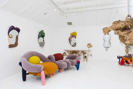 Lush Ludicrous Furniture Exhibits - Misha Kahn's Furnishing Lends Itself to Adorably Absurd Design