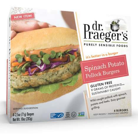 Spinach Seafood Burgers