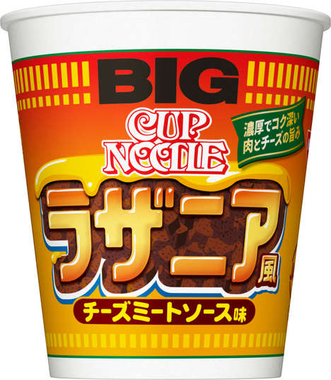 Lasagna-Flavored Noodle Cups