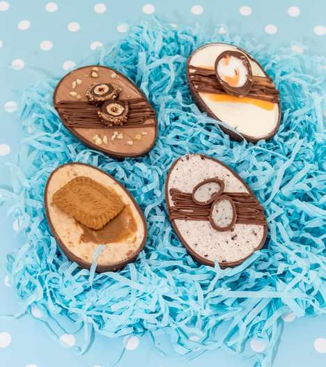 Cheesecake-Filled Easter Chocolates