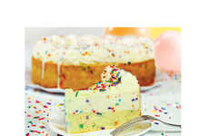 Reinvented Birthday Cheesecakes - This Eli's Cheesecake Birthday Cake Has a Yellow Cake Base
