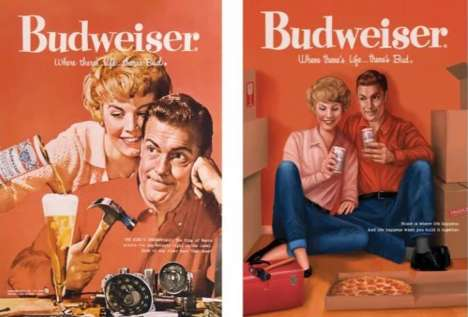 Modernized Vintage Beer Ads